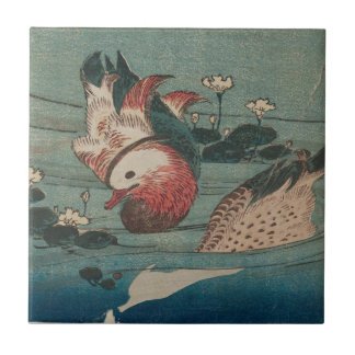 Carreau Deux canards par Keisai Eisen