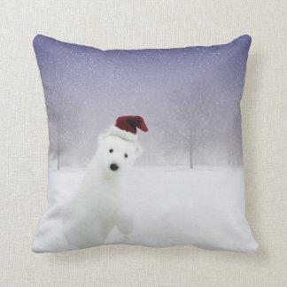 Carreau d'ours blanc de Noël Oreillers