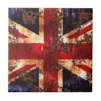 Carreau Drapeau patriotique rouillé du Royaume-Uni