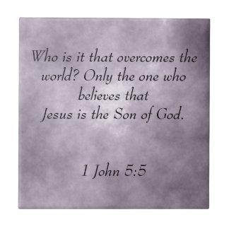 Carreau Écriture sainte de Jésus