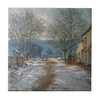 Carreau Effet de neige chez Limetz par Claude Monet