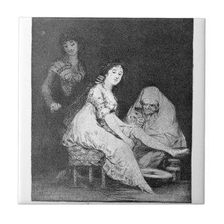 Carreau Elle prie pour elle par Francisco Goya