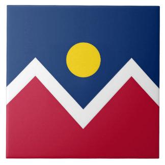 Carreau État du Colorado, tuile de drapeau de ville de