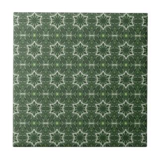 Carreau étoiles de 6 points sur la tuile verte