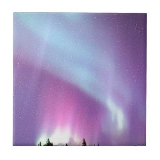 Carreau Étoiles de l'Alaska d'hiver de ciel de lumières du
