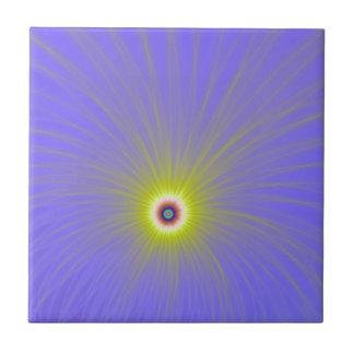 Carreau Explosion de couleur dans la tuile jaune et bleue