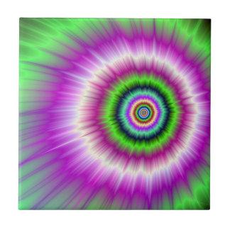 Carreau Explosion de couleur dans la tuile rose et verte