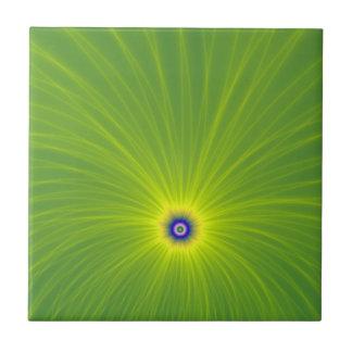 Carreau Explosion de couleur dans la tuile verte et jaune