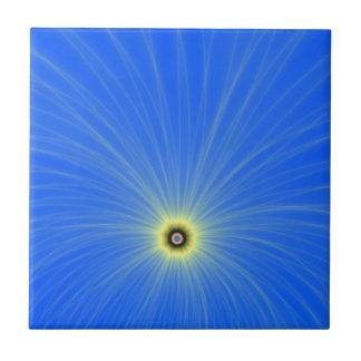 Carreau Explosion jaune de couleur sur la tuile bleue