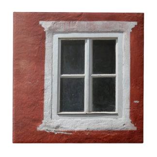 Carreau Fenêtre rouge et blanche