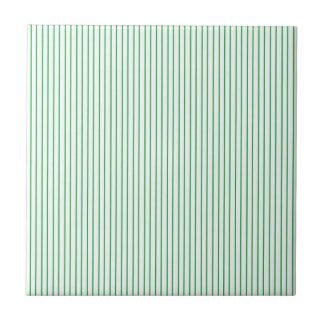 Carreau Filet vert et blanc