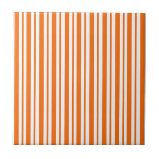 Carreau Filet vertical orange