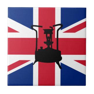Carreau Fourneau de pression d'Union Jack et de paraffine