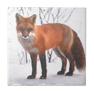 Carreau Fox dans la neige