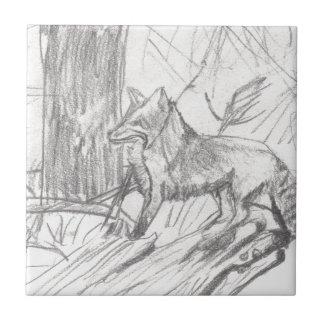 Carreau Fox dessinant Eliana