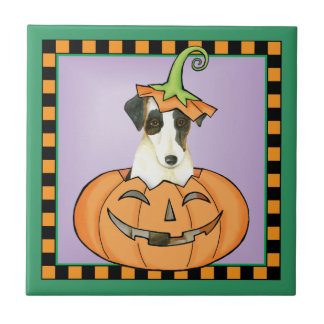 Carreau Fox Terrier doux de Halloween