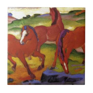 Carreau Frôlant des chevaux IV (les chevaux rouges) par