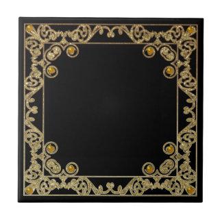 Carreau Frontière scintillante carrée d'or