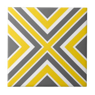 Carreau Géométrique blanc jaune gris