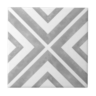 Carreau Géométrique gris et blanc