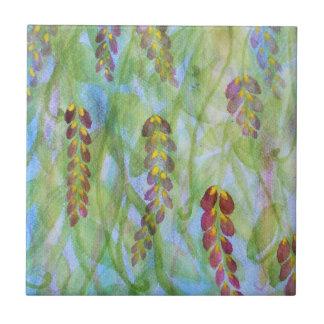 Carreau Glycines abstraites d'aquarelle
