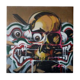 Carreau Graffiti de crâne de Bangkok
