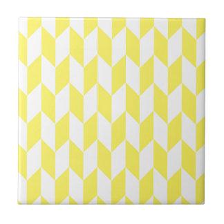 Carreau Grand motif de chevron de compensation en jaune