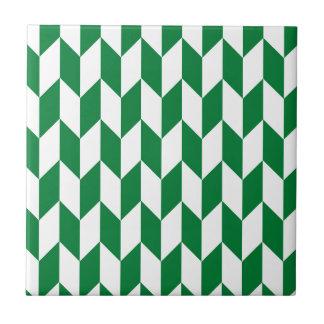 Carreau Grand motif de chevron de compensation en vert