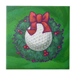 Carreau Guirlande de Noël de boule de golf sur le vert