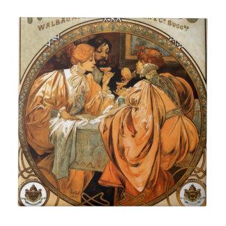 Carreau Heidsieck par Alphonse Mucha
