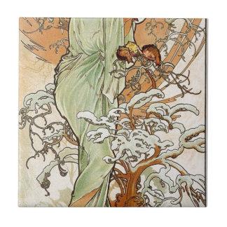 Carreau Hiver par Alphonse Mucha