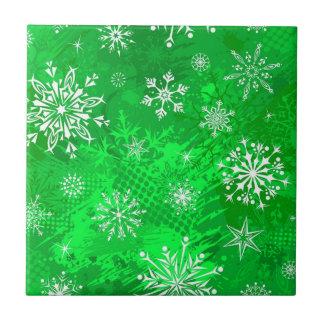 Carreau Hiver vert