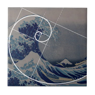 Carreau Hokusai rencontre Fibonacci, rapport d'or
