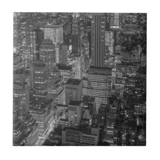 Carreau Horizon rouge blanc noir de New York City