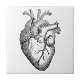 Carreau Illustration blanche noire simple de coeur
