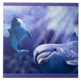 Carreau Illustration de tuile de dauphin