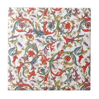 Carreau Impression florale colorée