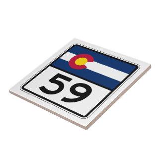 Carreau Itinéraire 59 d'état du Colorado