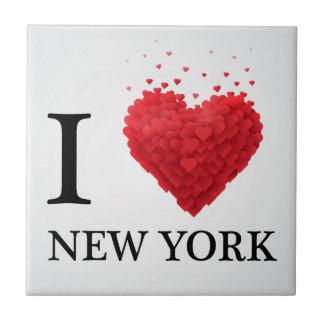 Carreau J'aime des coeurs de New York
