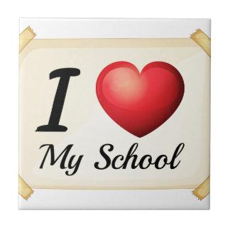 Carreau J'aime mon école
