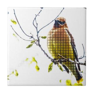 Carreau Jaseur de cèdre animal d'oiseau