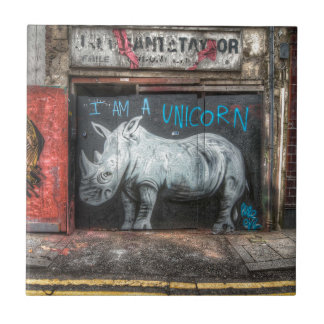 Carreau Je suis une licorne, graffiti de Shoreditch
