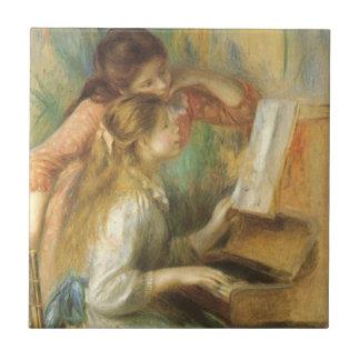 Carreau Jeunes filles au piano par Pierre Renoir