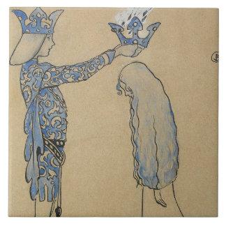 Carreau John Bauer - mettez alors le prince une couronne