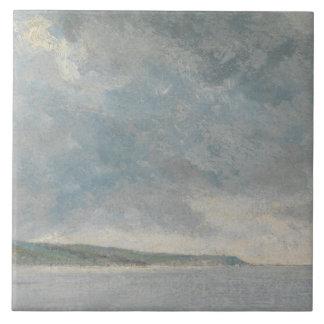 Carreau John Constable - scène côtière avec des falaises