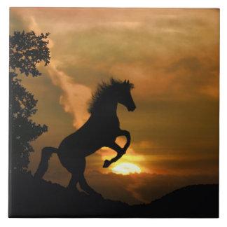 Carreau Jolie tuile de élevage d'art de cheval