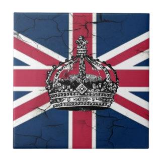 Carreau Jubilé de diamant de reine d'Angleterre de drapeau