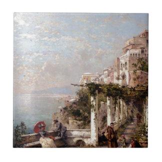 Carreau La côte d'Amalfi par Franz Richard Unterberger