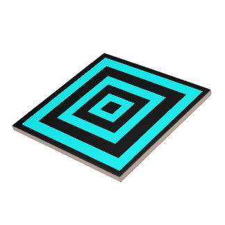 Carreau La géométrie hypnotique bleue