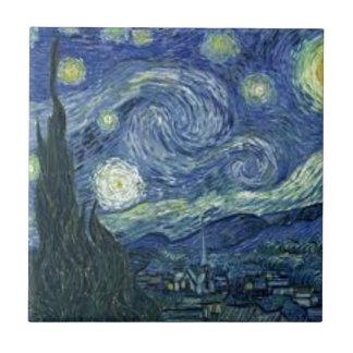 Carreau La Nuit Etoilée de Van Gogh (The Starry Night)